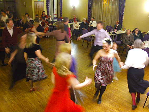Image showing dancers at a barn dance ceilidh